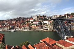 Le Portugal, Porto ; vue de la ville antique photo libre de droits