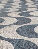 Le Portugal soustraient des modèles de trottoir de tuile comme dos Photo stock