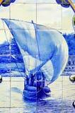 Le Portugal, vallée de Douro, Pinhao : céramique, azulejo photo libre de droits