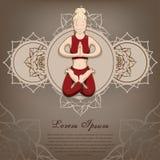 Le poserar kvinnor i yogan Royaltyfria Bilder