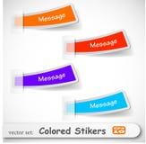 Le positionnement coloré abstrait de collant Photos libres de droits