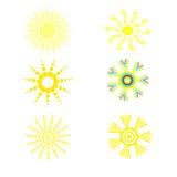 Le positionnement du soleil Photo libre de droits