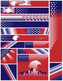 le positionnement multi de couleurs de drapeaux classe des états unis Images libres de droits
