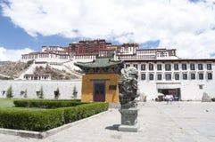 Le Potala à Lhasa Images libres de droits