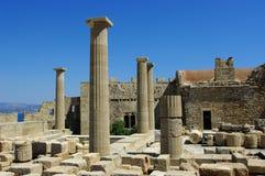 Le poteau en pierre antique. image stock
