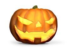 Le potiron 3D de Halloween rendent Halloween mauvais font face Images stock