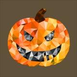 Le potiron de Halloween polygones jaunes, Photographie stock