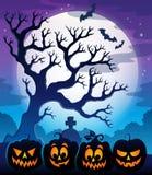 Le potiron silhouette l'image 4 de thème Photo libre de droits
