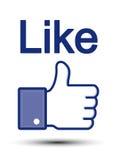 Le pouce de Facebook aiment Photo libre de droits