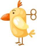 Le poulet avec enroulent vers le haut la clé Photographie stock