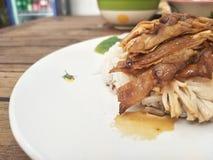 Le poulet de vapeur avec du riz est très délicieux image libre de droits