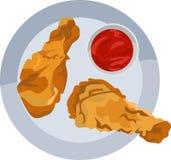 Le poulet frit Image libre de droits