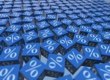 Le pourcentage se connecte des cubes - le rendu 3d Images libres de droits
