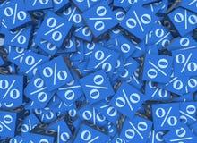 Le pourcentage se connecte des cubes - le rendu 3d Photo stock