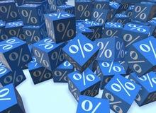Le pourcentage se connecte des cubes - le rendu 3d Image libre de droits