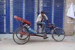 Le pousse-pousse de cycle Photographie stock libre de droits