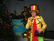 Le présentateur de la fédération de sport de danse du St Petersbourg Michael Smile Image stock