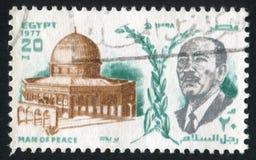 Le Président Anwar Sadat image libre de droits