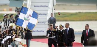 Le Président Barack Obama arrive à Athènes Photos stock