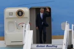 Le Président Barack Obama arrive à Athènes Image stock