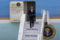 Le Président Barack Obama arrive à Athènes Photo libre de droits