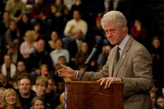 Le Président Bill Clinton Images libres de droits