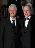 Le Président Bill Clinton et prince Albert II du Monaco Image stock