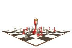 Le président d'une grande société (métaphore d'échecs) Photographie stock libre de droits