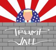 Le Président Donald Trump et son mur des Etats-Unis de frontière images stock