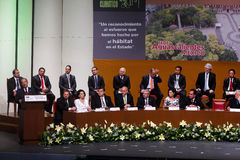 Le président du Mexique, Felipe Calderon image stock
