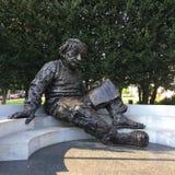 Le Président Einstein de la Maison Blanche de monument de nuit du Lincoln Memorial de Washington DC Photographie stock libre de droits
