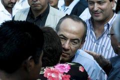 Le Président Felipe Calderon du Mexique photos libres de droits