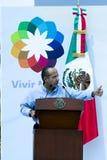 Le Président Felipe Calderon du Mexique images libres de droits