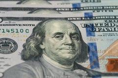 Le Président Franklin de cent dollars Photographie stock libre de droits