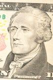 Le Président Hamiltonte Billet de dix dollars Portrait du président images libres de droits