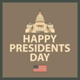 Le Président heureux Day Images libres de droits