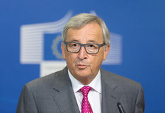 Le Président Jean-Claude Juncker de Commission européenne Image libre de droits