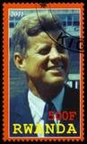 Le Président Kennedy Postage Stamp du Rwanda Photos libres de droits