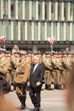Le Président Lech Kaczynski Photos stock