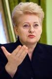 Le Président lithuanien Dalia Grybauskaite Images stock