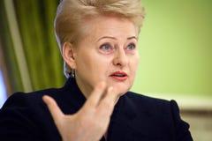 Le Président lithuanien Dalia Grybauskaite Photographie stock