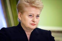 Le Président lithuanien Dalia Grybauskaite Photo libre de droits