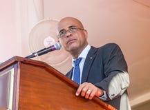 Le Président Michel Martelly du Haïti Photographie stock