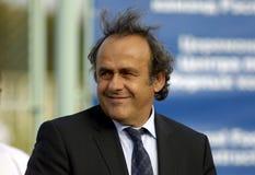 Le Président Michel Platini de l'UEFA Images libres de droits