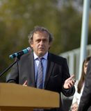Le Président Michel Platini de l'UEFA Photos stock