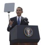 Le Président Obama à Prague Images libres de droits