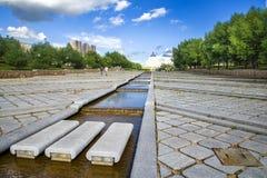 Le Président Park à Astana, Kazakhstan Images stock