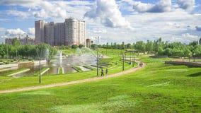 Le Président Park à Astana, Kazakhstan Photographie stock