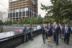 Le Président Petro Poroshenko au mem de point zéro de World Trade Center Photos libres de droits