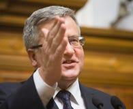 Le Président polonais Bronislaw Komorowski Photographie stock